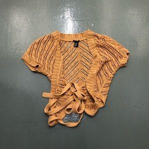 Theory crochet knit cardigan